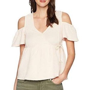NWT Lucky Brand cold shoulder top size L